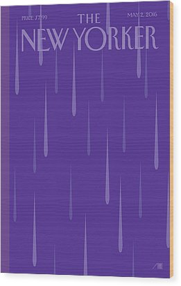 Prince Tribute Wood Print by Bob Staake