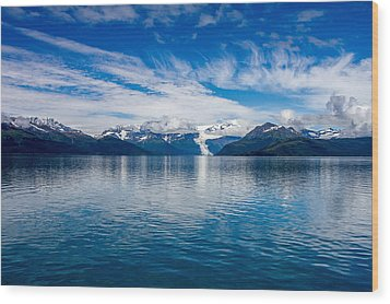 Wood Print featuring the photograph Prince William Sound View by  Phil Stone