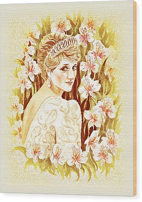 Princess Diana Wood Print by Irina Sztukowski