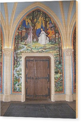 Princess Door Wood Print