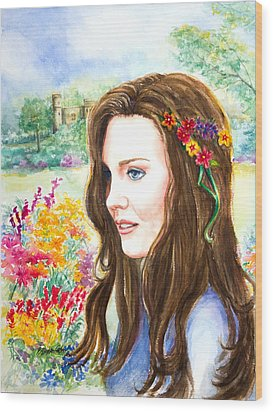 Princess Kate Wood Print by Patricia Allingham Carlson