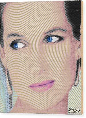 Princess Lady Diana Wood Print by Tony Rubino