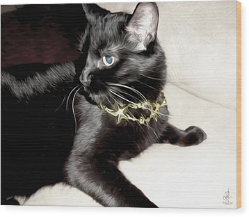 Wood Print featuring the photograph Princess Lucy by Pennie  McCracken
