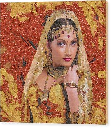 Princess Of Spice Wood Print by Marina Likholat