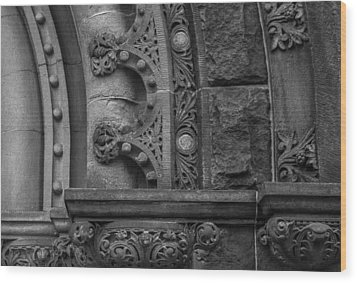 Wood Print featuring the photograph Princeton Architectural Detail by Glenn DiPaola