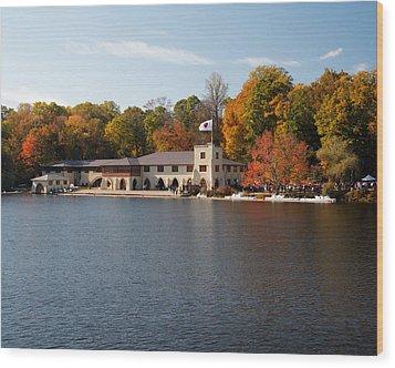 Princeton Crew Boathouse Princeton New Jersey Wood Print by George Oze