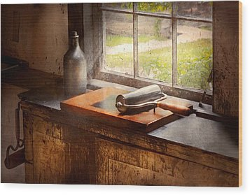 Printer - A Hope And A Brayer Wood Print by Mike Savad