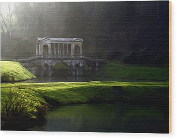 Wood Print featuring the digital art Prior Park Bath by Ron Harpham
