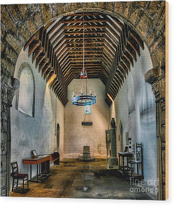 Priory Church Of St Seiriol Wood Print by Adrian Evans