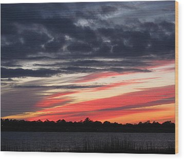 Prism At Sunset Wood Print by Joetta Beauford