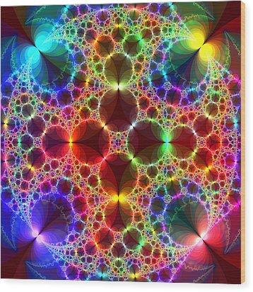 Prism Bubbles Wood Print