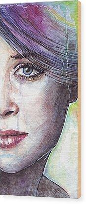 Prismatic Visions Wood Print by Olga Shvartsur