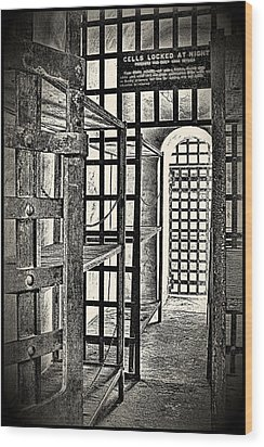 Wood Print featuring the photograph Prison Cell ... by Chuck Caramella