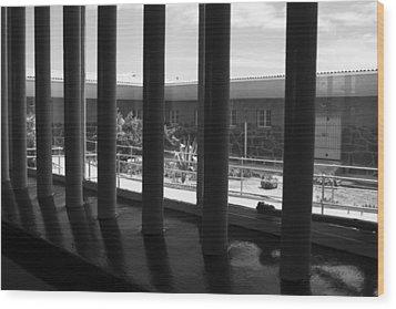 Prison Cell View Wood Print by Aidan Moran