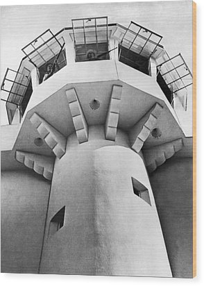 Prison Guard Tower Wood Print by Underwood Archives