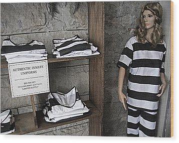 Prison Tour 2 - Fashion Statement Wood Print by Steve Ohlsen