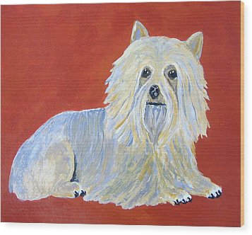 Wood Print featuring the painting Prissy by Suzanne Theis
