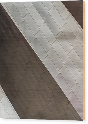 Wood Print featuring the photograph Pritzker Pavilion Detail by James Howe