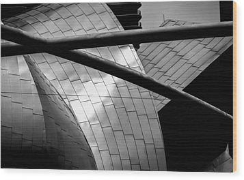 Wood Print featuring the photograph Pritzker Pavilion by James Howe