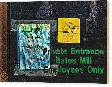 Private Entrance Wood Print by Bob Orsillo