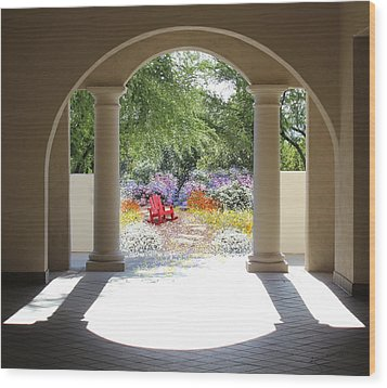 Private Garden Wood Print by Kume Bryant