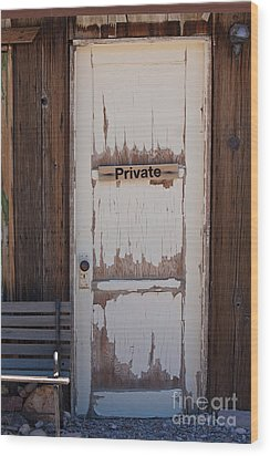 Wood Print featuring the photograph Private by Gunter Nezhoda