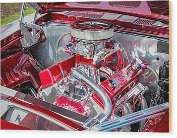 Wood Print featuring the photograph Pro Street Hot Rod Engine  by Trace Kittrell