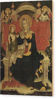 Probably Artista Veneziano, Madonna Wood Print by Everett