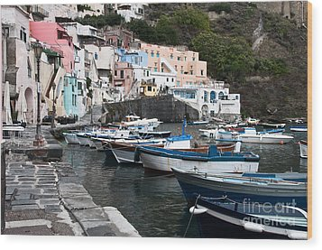Procida Wood Print by Marion Galt