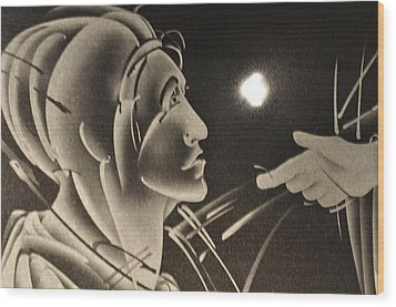 Prodigal Sees The Light Wood Print by Cathi Cackler-Veazey