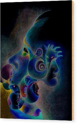 Profile Wood Print by Bodhi
