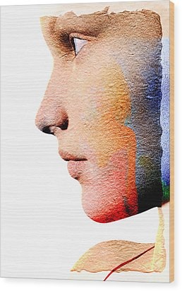 Profile Of A Woman Wood Print by David Ridley