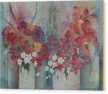 Profusion Wood Print by Lee Beuther