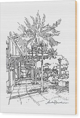 Promenade Wood Print by Andrew Drozdowicz