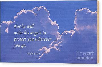 Promise Of Protection Wood Print