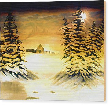 Promises Of A Brighter Day Wood Print by Barbara Griffin