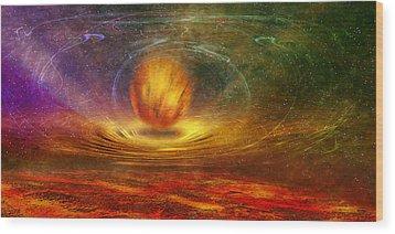 Prophet Of Light Wood Print by manhART