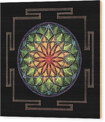 Prosperity Wood Print by Keiko Katsuta