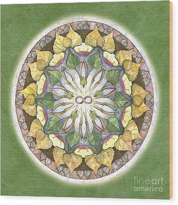 Prosperity Mandala Wood Print by Jo Thomas Blaine