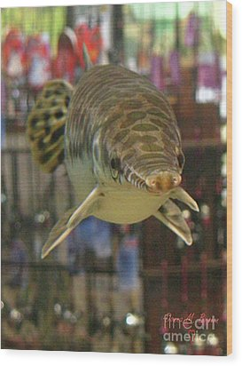 Wood Print featuring the photograph Protected Gar by Donna Brown