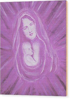 Protecting Love Of The Mother  Wood Print by The Art With A Heart By Charlotte Phillips