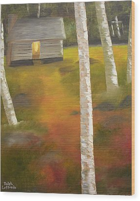 Protecting The Homestead Wood Print by Ralph Loffredo