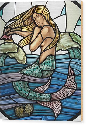 Protection Island Mermaid Wood Print
