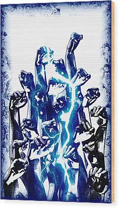 Protest The Power Wood Print by Frederico Borges