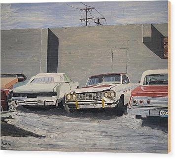 Proto Low Riders Wood Print by Patricio Lazen