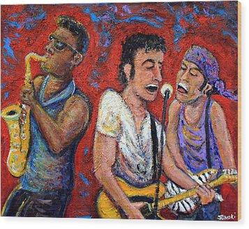 Prove It All Night Bruce Springsteen And The E Street Band Wood Print by Jason Gluskin