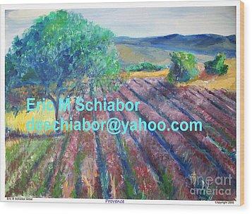 Provence Lavender Field Wood Print