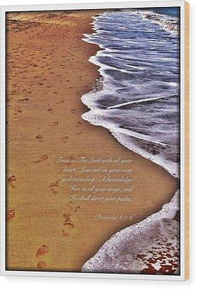 Proverbs 3 5 Wood Print