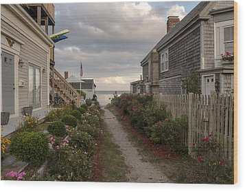 Provincetown Alley Wood Print
