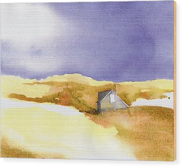 Provincetown Dune Shack Wood Print by Joseph Gallant